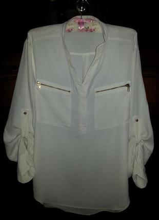 Стильная кремовая блуза, рубашка