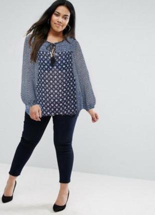 Блуза new look uk24 большой размер