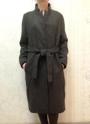 Модное пальто халат шерстяное