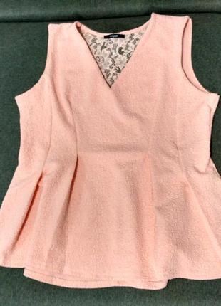 Шикарная блуза персикового цвета на р-р xxl