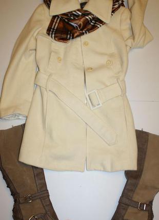 Mexx оригинальное демисезонное пальто для стильной девушки. недорого