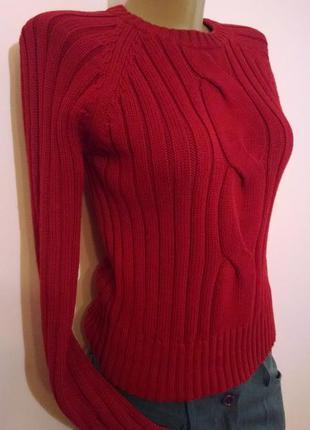 """Суперцена до 8 марта! яркий вязаный свитерок """"ягодного"""" цвета от esprit"""