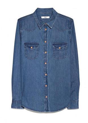 Джинсовая рубашка mango размер m