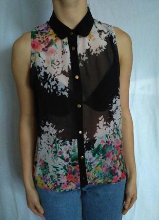 Очень красивая шифоновая рубашка с цветочным принтом от atmosphere