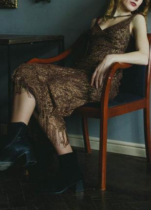 Золотое платье в стиле gatsby