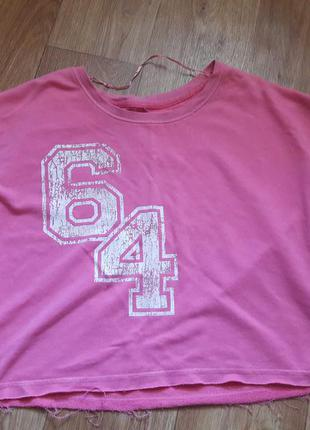 Футболка спортивная имиджевая розовая