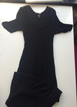 Рубчик вязаное платье