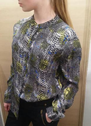Блуза топ блузка рубашка со змеиным / крокодильим принтом &other stories новая