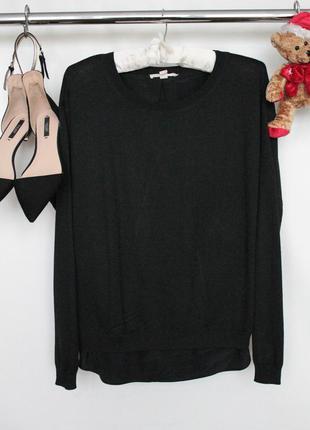 Изысканная кофта свитер с блузкой и длинным рукавом