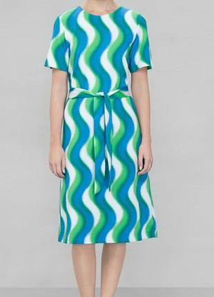 Платье миди с рисунком волны & other stories