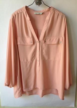 Нежно розовая блуза