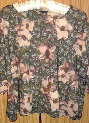 Трендовая блуза с 3d принтом от topshop,p.38/10