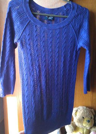 Офигенныйновый  фиолетовый свитер красивой вязки