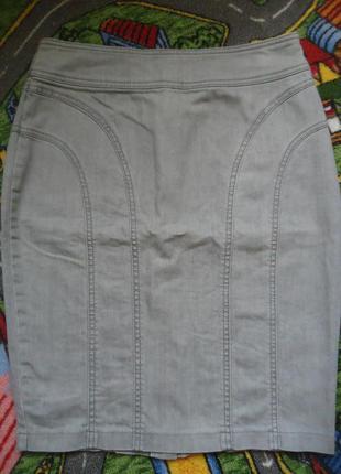Стильная джинсовая юбка карандаш