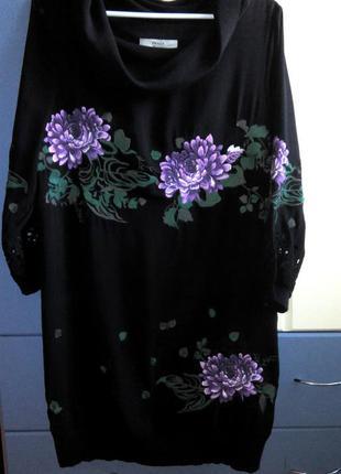 Платье цветы вышивка кружево вставки брендовое
