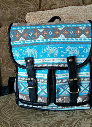 """Стильный рюкзак с абстракцией """"слоники"""""""