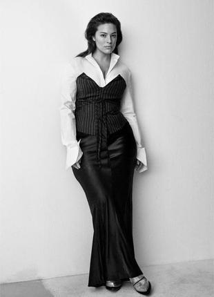 Шелковая юбка h&m studio 2016