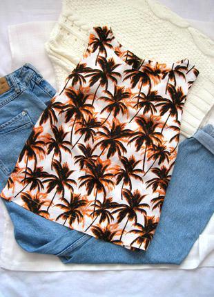 Яркий летний топ с пальмами dorothy perkins