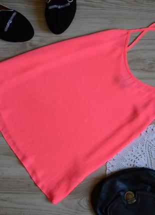 Майка на брительках рожева topshop