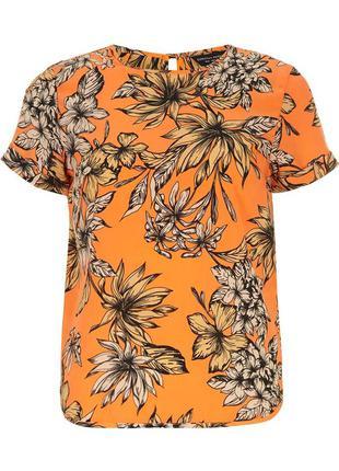 Новая шифоновая блуза в цветы