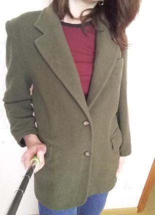 Пальто оверсайз хаки