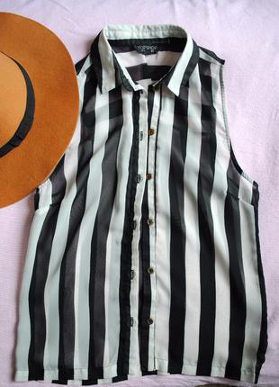 Стильная полосатая блуза topshop