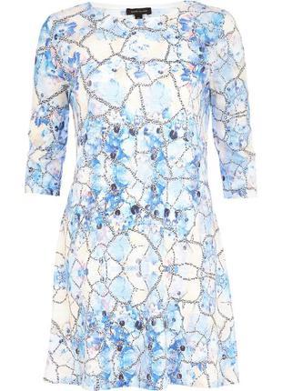 Милое свинг платье, туника, абстрактный цветочный рисунок