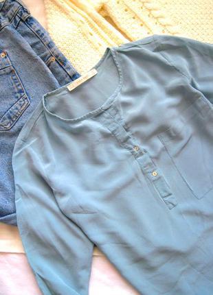 Базовая шелковая блуза zara basic