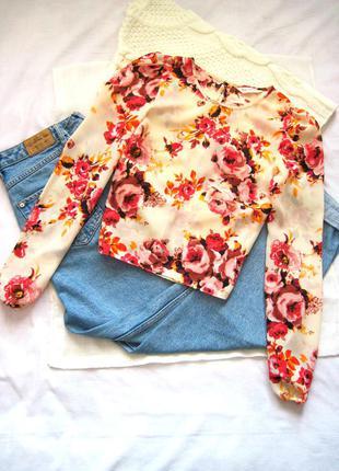 Прекрасная цветочная блуза с вырезом на спине miss selfridge