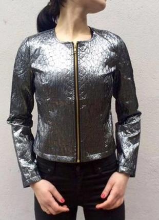 Новая курточка демисезонная, ветровка, легкая, серебрёная