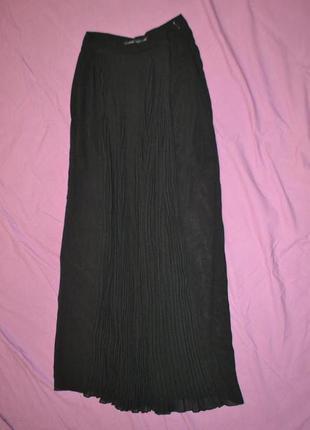 Юбка шифоновая черная zara