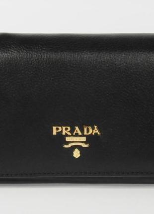 Кошелек женский кожаный prada 514-a черный, расцветки