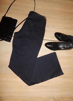 Черные классические брюки, штаны на каждый день котон
