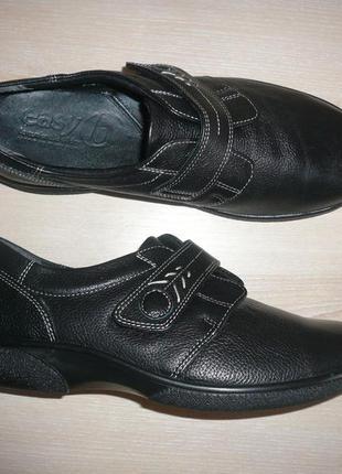 Закрытые туфли на липучке кожа 38 р 24, 5 см easy комфорт на каждый день