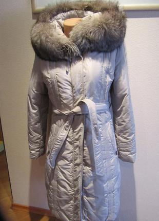 Пуховик, пальто, пух, чернобурка, 36. snow beauty.
