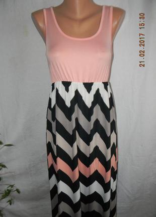 Платье-сарафан в пол с принтом