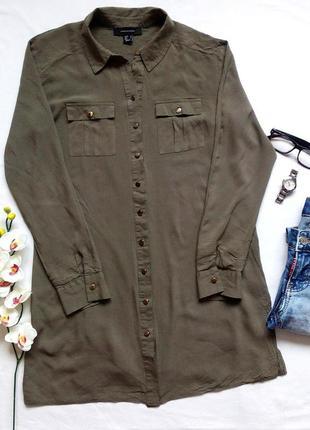 Вискозная удлиненная рубашка, блуза, блузка бренда atmosphere, 100% вискоза
