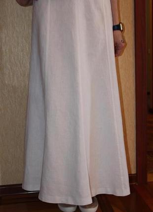 Шикарная фирменная юбка next, натуральный лен.