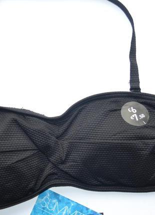 Новый черный купальник от f&f размер 10(38)