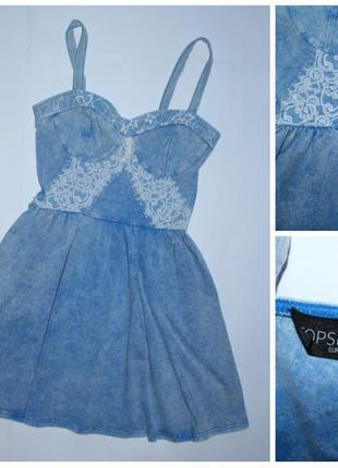 Легкое летнее платье-бюстье