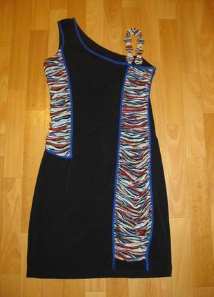 Оригинальное платье на одно плечо