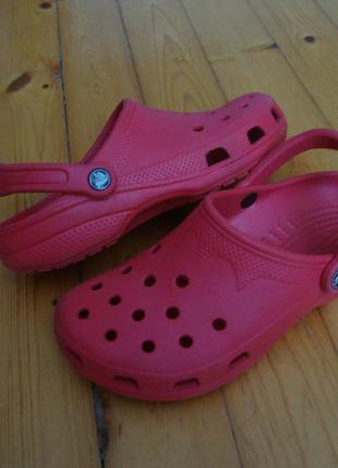 Босоножки сандалии crocs red оригинал 39-40 размер