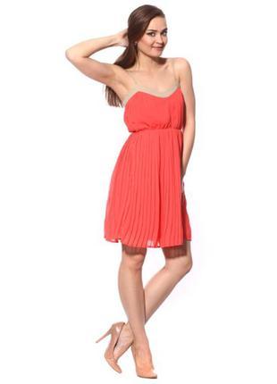 Сукня mango р. l нове плаття платье коралловое коралове красное свободное манго