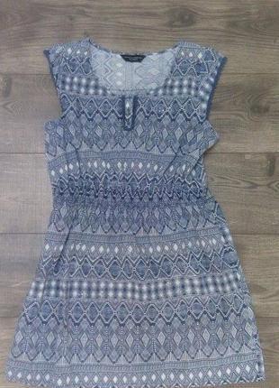 Натуральное платье-сарафан (m)