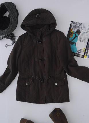 Куртка демисезонная весенне-осенняя коричневая с капюшоном