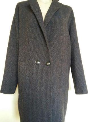 Доступно - крутое пальто актуального кроя *promod* 14/16 р.