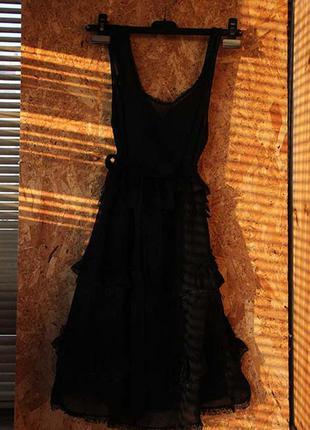 Черное платье sisley, м
