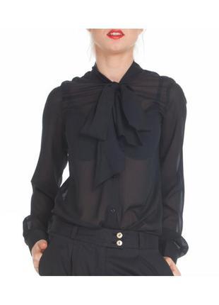 Шифоновая блуза с бантом f&f