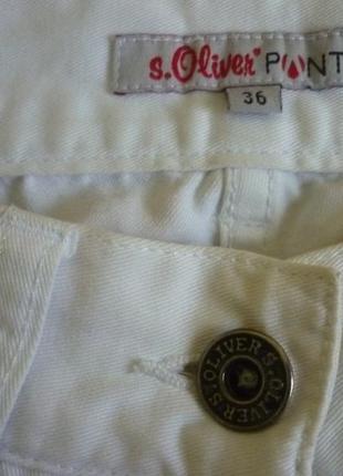 Крутые джинсы белые s'oliver не секонд