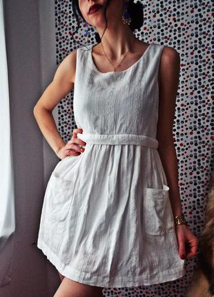 Платье, сарафан белый от topshop